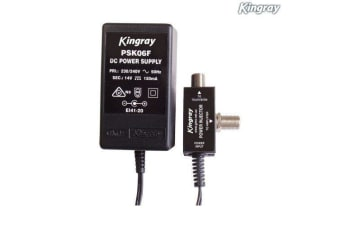 Kingray Plug Pack F Type PSK06F 14V DC 100 MA Powersupply Injector for Amplifier