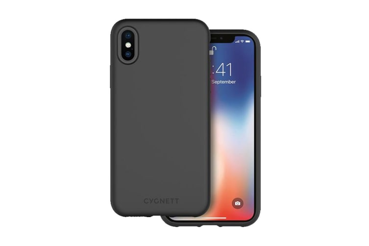 Cygnett Skin Soft feel Case for iPhone Xs Max - Black (CY2617CPSKI)