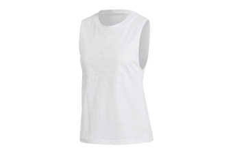 Adidas Women's Essential Solid Tank (White/white, Size XS)