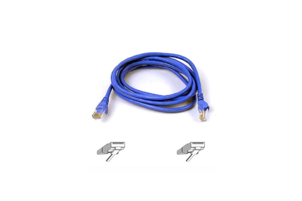 4PK Belkin 5M Snagless Molded Patch Cable Blue