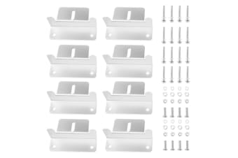 ATEM POWER 8Pcs Solar Panel Mounting Z-Brackets Set Fixing Kit Caravan Roof Aluminum RV