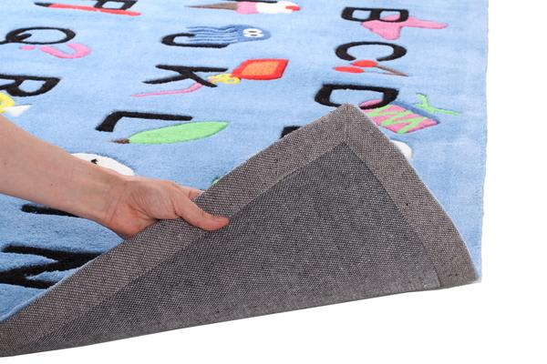 Cool Alphabet Rug Blue 165x115cm