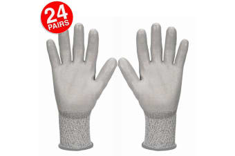 24PK Jackson Size 7/S Safety Work Gear G60 Level 3 Cut Resistant Gloves Hands
