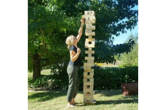 Giant Wooden Stacking Tower Blocks Outdoor Game - Deluxe 127cm