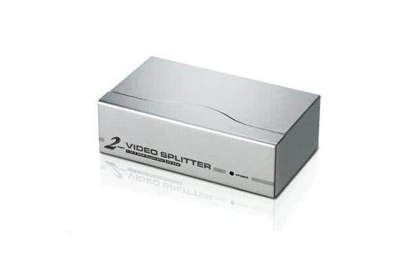 Aten VanCryst VS-92A 2-Port Video splitter duplicates and boosts VGA signal from one video input
