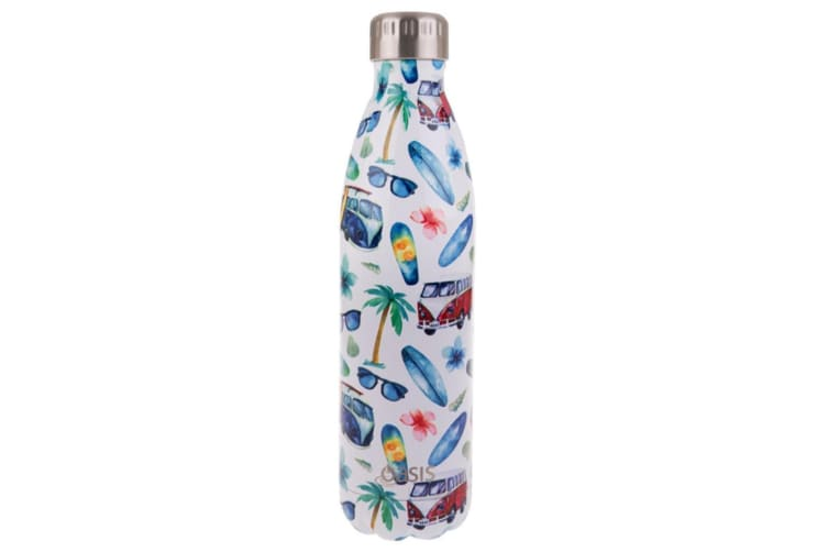 Oasis Stainless Steel Double Wall Insulated Drink Bottle 750ml  - Sea Turtles___