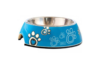 Rogz Bubble Bowl Turquoise Paws - Small