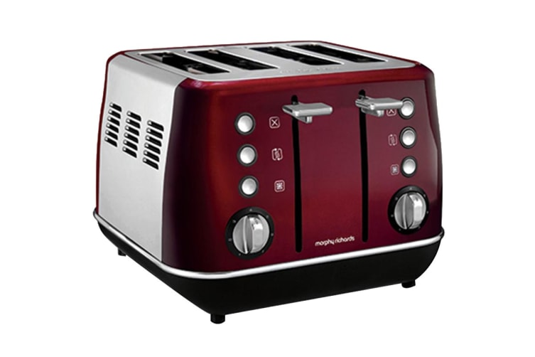 Morphy Richards Evoke Toaster & Kettle Pack - Red (104408-240108)
