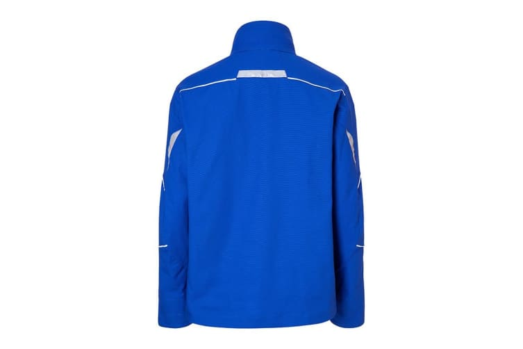 James and Nicholson Unisex Workwear Jacket (Royal Blue/White) (L)