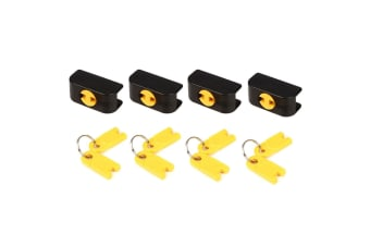 4PK Hercules Lock w/2 Keys for Guitar Stand/Wall Hanger Auto Grip System Mount