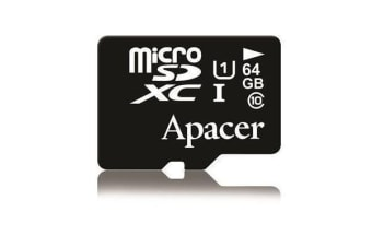 Apacer 64GB microSDXC UHS-I Class10 w/ 1 Adapter RP