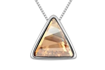 Triangle Necklace for Women Gift Made with SWAROVSKI Elements Crystal 18K White Gold Plated  Gold
