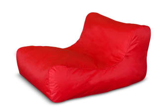 Ovela Luxe Bean Bag Lounger (Red)