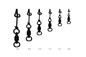 Mustad Ultrapoint Fastach Clips with Ball Bearing Swivel - Choose your Size [Size: 2.3 Qty: 7 Clips]