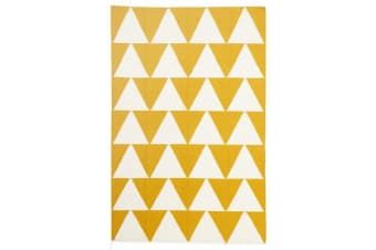 Pyramid Flat Weave Rug Yellow 280x190cm