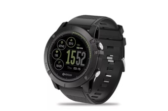 Select Mall Rugged Inside Out HR Monitor 3D UI All-day Activity Record 1.22Inch Smart Waterproof Watch-BLACK