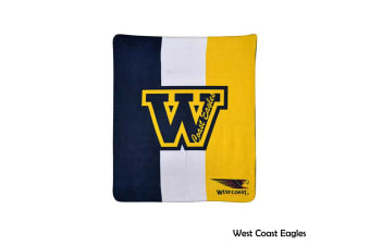 AFL Licensed Polar Fleece Throw West Coast Eagles