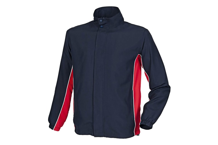 Finden & Hales Kids Unisex Full Zip Contrast Sports Track Top / Tracksuit Top (Navy/ Red/ White) (5-6)