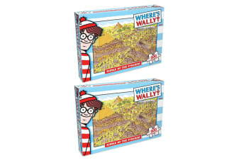 2x 300pc Where's Wally Pyramid Riddle Jigsaw Puzzle Educational Kids/Child Toy