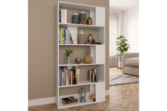 vidaXL Book Cabinet/Room Divider White 80x24x159 cm Chipboard