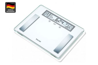 Beurer XXL Glass Body Fat Bathroom Scale (BG51XXL)