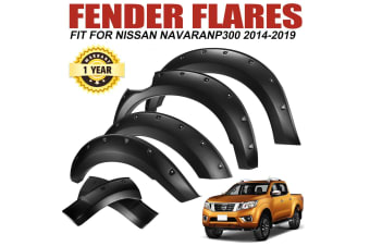 LIGHTFOX Matt Black Wrinkle Fender Flares Wheel Arch fit Nissan Navara D23 NP300 2014-2018