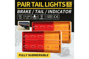 LIGHTFOX 2x LED Trailer Lights Tail Lamp Stop Indicator 12V ADR 4WD 4X4 UTE Submersible