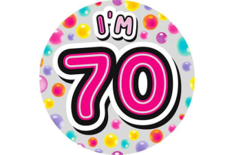Expression Factory Giant Birthday Badge (Pink)