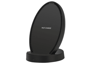 Black Flat Fast Wireless Charger For iPhone XS X 8/8PLUS For Samsung Note 8 S9