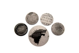 Game Of Thrones Stark Button Badge Set (Multicoloured) (One Size)