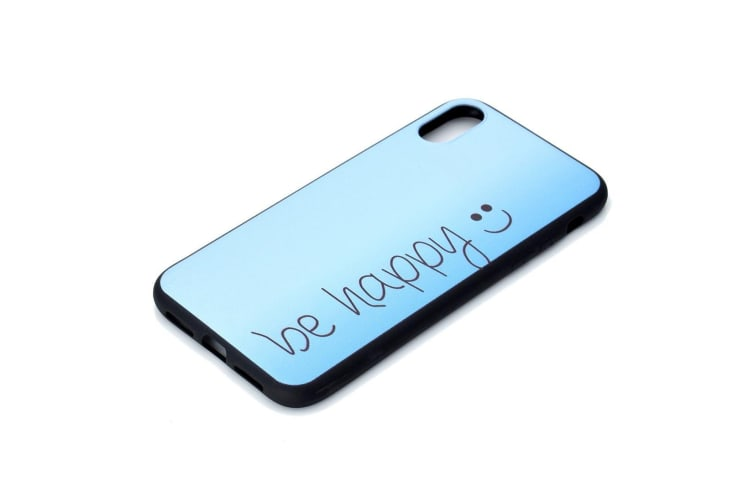 For iPhone XS Max Cover Thin Protective Back Shell Mobile Phone Case Be Happy