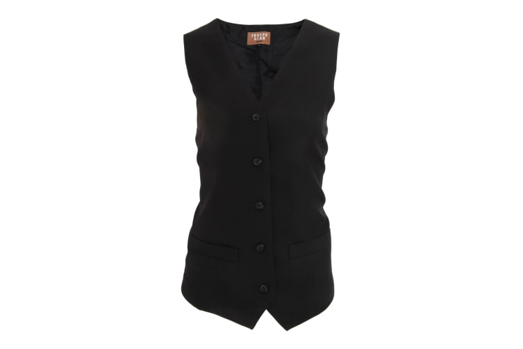Dennys Joseph Alan Womens/Ladies Self Back Waistcoat (Pack of 2) (Black) (16)
