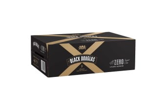 Black Douglas Blended Scotch and Zero Cola 24 x 375mL Cans
