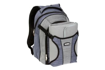Thermos 4 Person Picnic Backpack with Blanket (Blue/Grey)