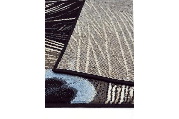Whimsical Feathers Rug Navy 290X200cm