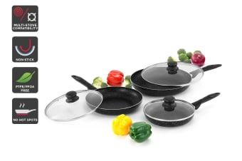 Ovela 6 Piece BlackStone Non-Stick Induction Frypan Set