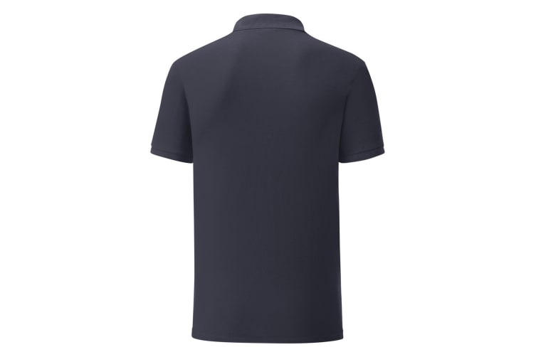 Fruit Of The Loom Mens Tailored Poly/Cotton Piqu Polo Shirt (Deep Navy) (L)
