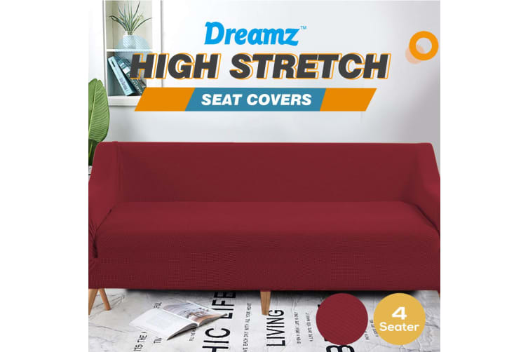DreamZ 4 Seater Sofa Cover Couch Covers Slipcover Recliner Protector Wine
