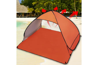 Easy Pop Up Portable Beach Canopy Sun Shade Shelter Outdoor Camping Fishing Tent  -  2 PersonOrange