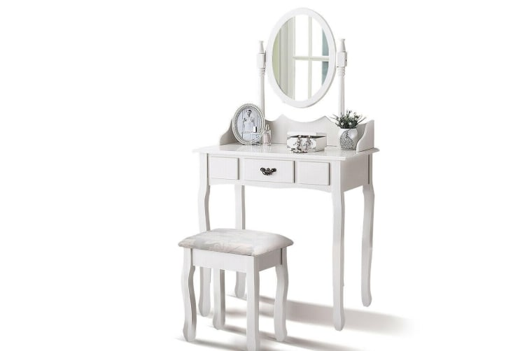 Luxury Dressing Table&Stool Drawer Jewellery Cabinet Makeup Organiser