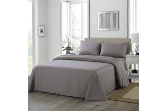 Royal Comfort 1200 Thread Count Sheet Set 4 Piece Ultra Soft Satin Weave Finish - Queen - Charcoal