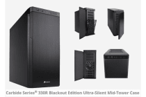 Corsair 330R Blackout Edition Ultra Silent Sound Dampening, Mid-Tower Case. Supports Mini-ITX, MicroATX, ATX