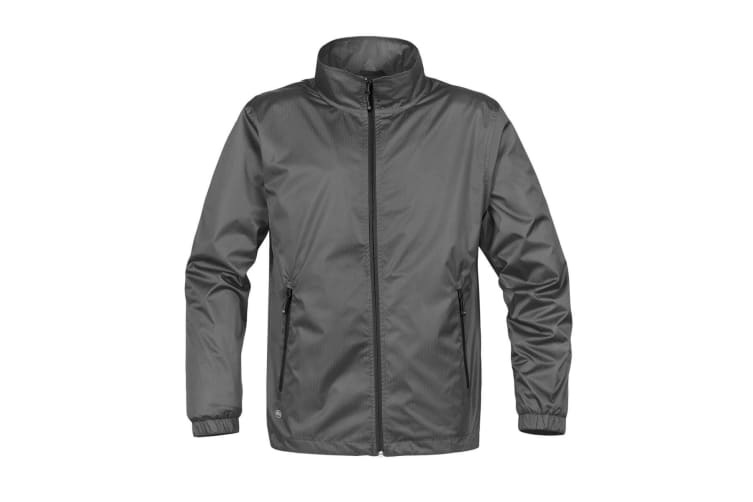 Stormtech Mens Axis Lightweight Shell Jacket (Waterproof And Breathable) (Grey/Black) (2XL)