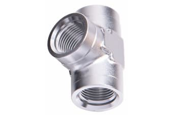 "Aeroflow Female Pipe Tee 3/8"" NPT Silver Female 3/8"" NPT"
