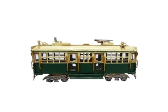 Melbourne City Toorak Tram Train replica Model Handmade Rail Tin 28cm