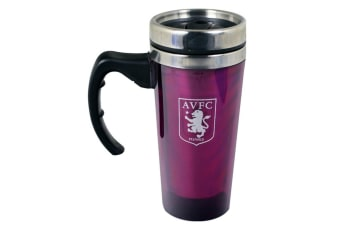 Aston Villa FC Aluminium Travel Mug - 450ml (Multicoloured) (One Size)