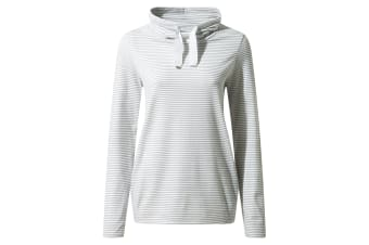 Craghoppers Womens NosiLife Adelina Long Sleeved Top (Soft Grey Marl Stripe) (8 UK)