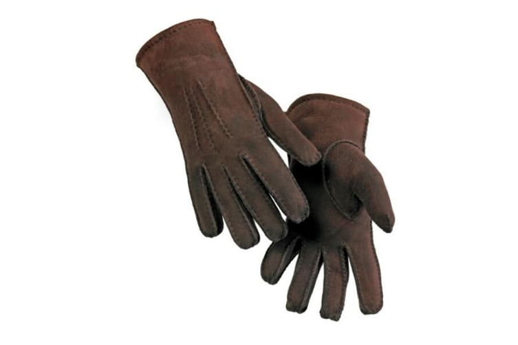 Eastern Counties Leather Womens/Ladies 3 Point Stitch Detail Sheepskin Gloves (Coffee) (S)