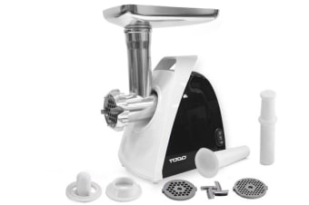 Todo Electric Meat Grinder Sausage Maker Filler Mincer Stuffer Kibbe 800W - Black