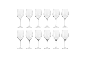 12pc Krosno Harmony Collection 370ml White Wine Glass Barware Drinking Glasses